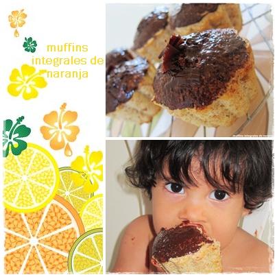 muffins integrales de naranja